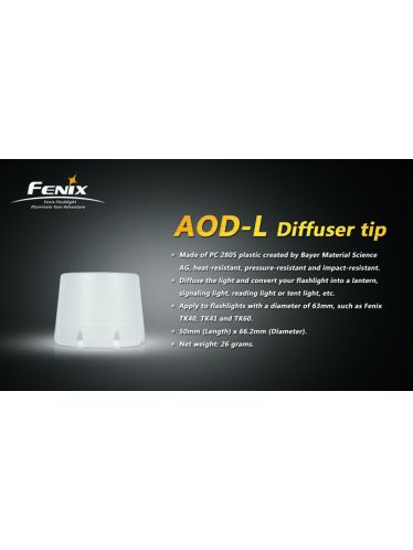 Fenix - Diffuser Tip White LARGE | Fenix Accessories