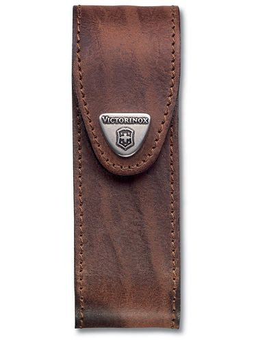 Victorinox - Leather Belt Pouch for 111mm Pocket Knives (4 layers) - Brown | Original Pouches