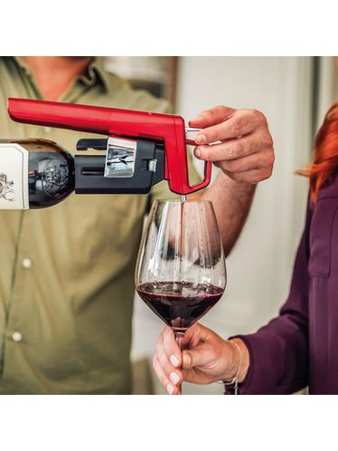 Coravin - Wine Pouring System Model Six Core - Apple Red   Coravin