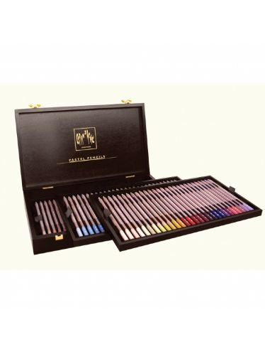 Caran d'Ache - Wooden Gift Case with 84 Pastel Pencils | Gift  Boxes Colour Sets