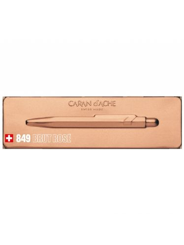 Caran d'Ache -  849 Goliath BRUT ROSE Ballpoint pen + Matching Slim Metal Box | Goliath 849 (Roller and Fountain Pens)