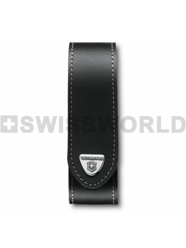 Victorinox - Leather Pouch LONG for 140mm Pocket Knives - LARGE Black | Original Pouches