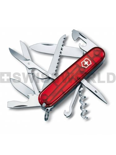 Victorinox - Multitool 91mm - Huntsman Red Translucent | Large Pocket Knife 91mm