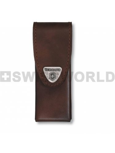Victorinox - Leather Pouch for 111mm Pocket Knives or Swiss Tool Spirit - Brown | Original Pouches