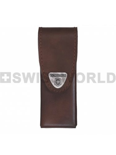 Victorinox - Leather Pouch with rotating hook  for 111mm Pocket Knives and SwissTool Spirit - Brown | Original Pouches