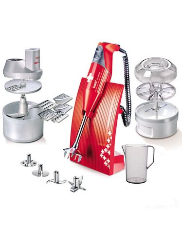 Bamix - Superbox 200W - Cooking Robot Immersion Mixer - Red | SwissLine and SuperBox