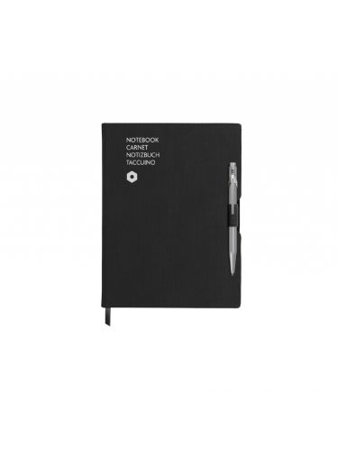 849 ballpoint pen GREY & notebook OFFICE A5 BLACK | Notebook Sets