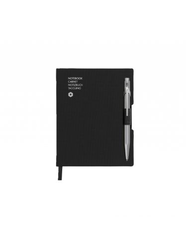 849 ballpoint pen GREY & notebook OFFICE A6 BLACK | Notebook Sets