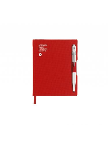 Caran d'Ache - 849 Ballpoint pen WHITE & notebook OFFICE A6 RED | Notebook Sets