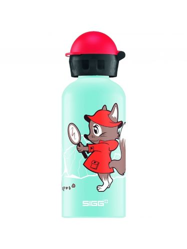 SIGG - Kids Water Bottle 0.6l - Detective Fox | KIDZ Bottles 0,6L - Boys and Girls from 12 to 99 Years