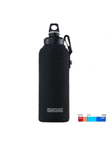 SIGG - Neoprene Thermic Pouch 1.5L Black  with hook | Hot & Cold Pouches