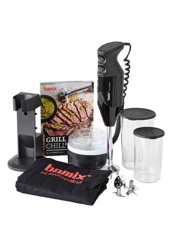 Bamix - BBQ GRILL & CHILL 200W - Cooking Robot Immersion Mixer - Black | Bamix