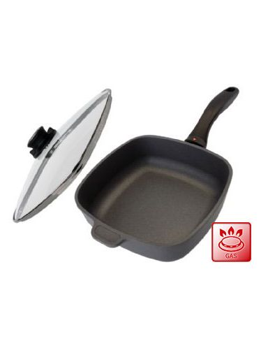 Swiss Diamond Square Frying Pan with Cover 28 cm (XD Version) | Casseroles and Dutch Ovens