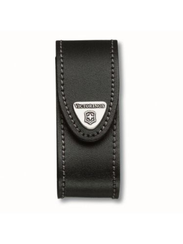 Victorinox - Leather Pouch for 91mm Pocket Knives (2-4 layers) Black | Original Pouches