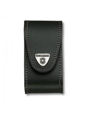 Victorinox - Leather Pouch for 91mm Pocket Knives (5-8 layers) Black | Original Pouches