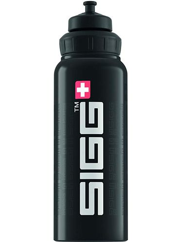 SIGG  -Water Bottle WIDE MOUTH SIGGnature 1L - Black | Sport Active Top