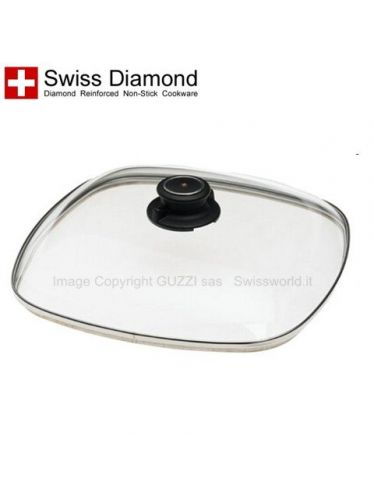 Swiss Diamond - Original Spare Rectangular Lid for Pan 30x40 cm | Accessories and Original Spare Parts